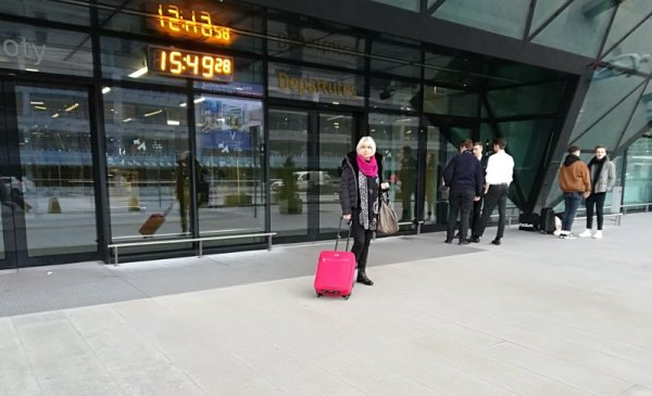 Ingresso sala partenze aeroporto di Cracovia