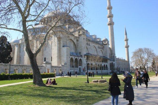 Parco della Süleymaniye Camii a Istanbul