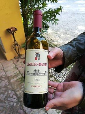 Vino cabernet DOC Castello di Roncade