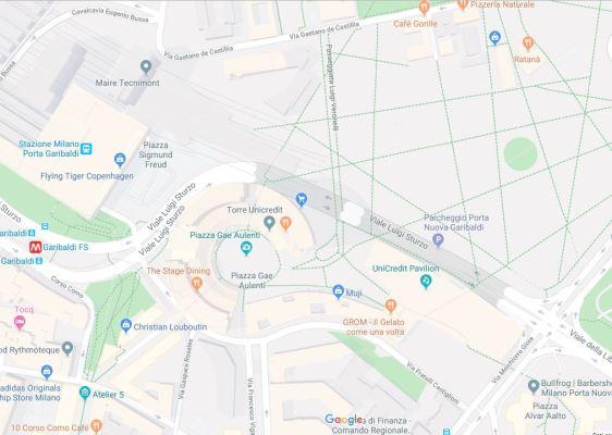 Mappa area Garibaldi Milano