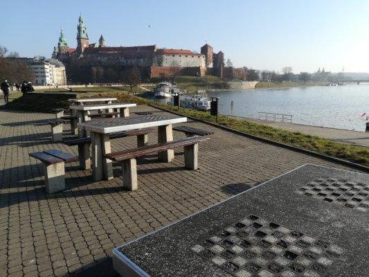 Il fiume Vistola a Cracovia