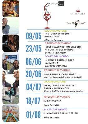 Programma primavera estate di Conversando di Viaggi 2019 a Udine