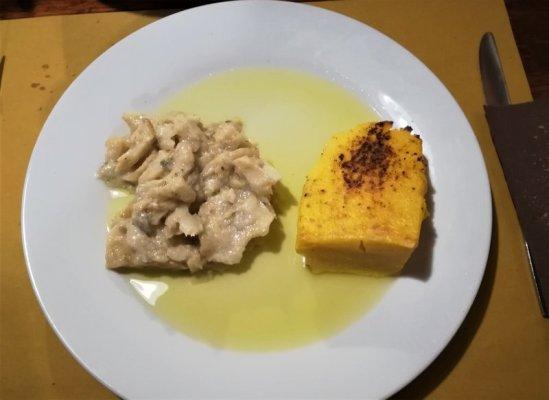 Baccalà con polenta alla osteria Al Canarino di Udine