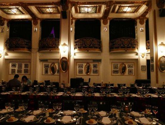 Sala da pranzo teatro Astor Piazzolla a Buenos Aires
