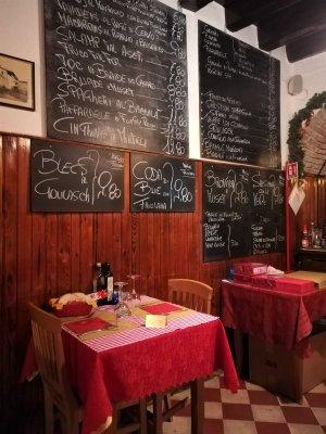 Il menù dell'osteria Al Marinaio di Udine