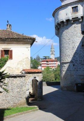 Il centro storico di Pazin (Pisino) in Istria Croazia
