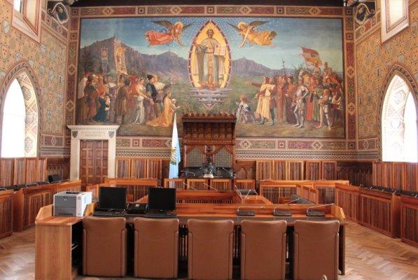 La Sala del Consiglio di San Marino