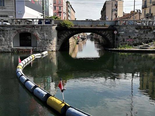 L'accesso navigabile del Naviglio Grande dalla darsena di Milano