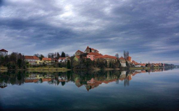 Panorama di Ptuj in Slovenia