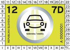 Vignetta autostradale della Slovenia