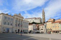 Piazza Giuseppe Tartini a Pirano in Slovenia
