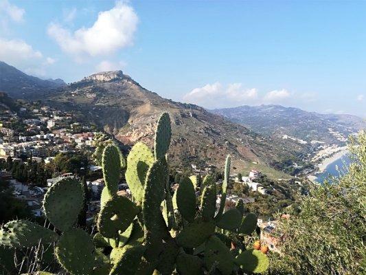 Panorama del Lido di Spisone a Taormina