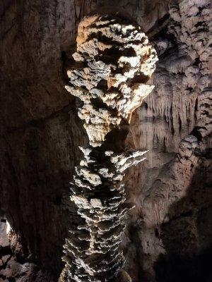 Una stalagmite nella Grotta Gigante in Friuli Venezia Giulia