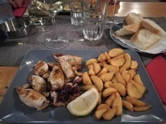 Calamari alla griglia alla Gostilna Pri Tinetu di Capodistria