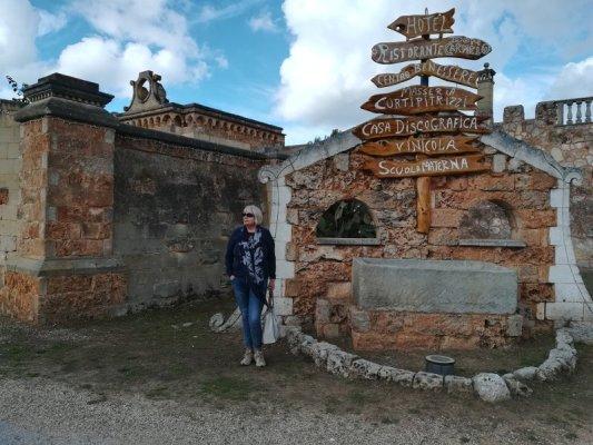 L'ingresso della tenuta di Al Bano Carrisi a Cellino San Marco
