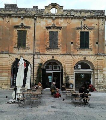 Un angolo caratteristico del centro storico di Lecce