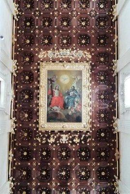 Il soffitto della Basilica di Santa Croce a Lecce