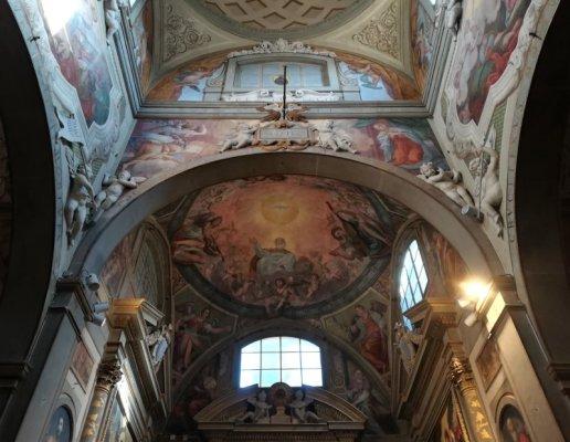 Soffitto della Chiesa di San Michele Arcangelo della Badia a Passignano Toscana