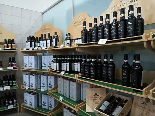 Sala vendita e degustazione al Frantoio Oleario Melcarne Giovanni a Gagliano del Capo