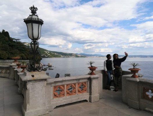 Panorama sul Golfo di Trieste da Miramare