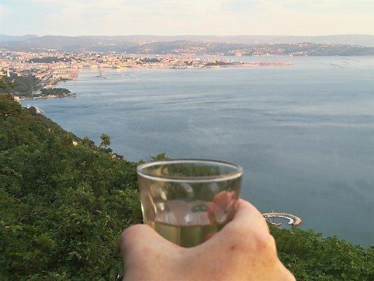 Panorama del golfo di Trieste da Prosecco - Contovello