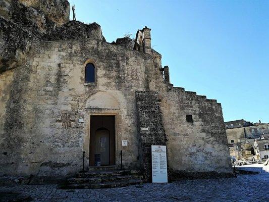 La facciata della Chiesa della Madonna de Idris a Matera
