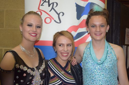 Saffron and Rosie - Cadet solo dance skaters with Alessandra