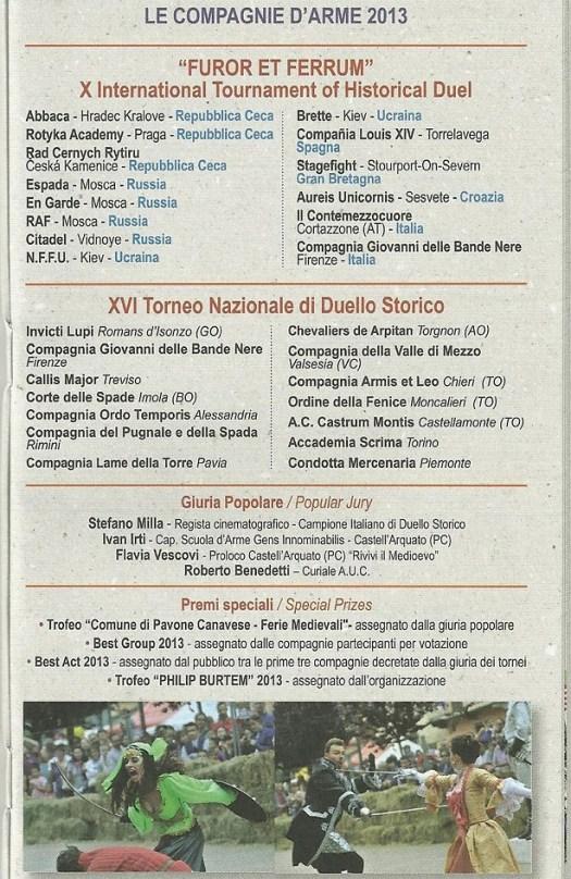 1-2 giugno 2013 - Ferie medievali