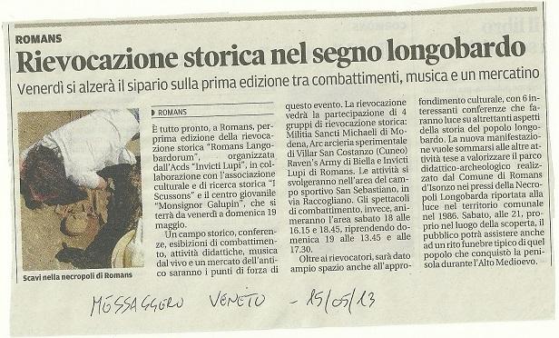 15 maggio 2013 - Messaggero Veneto