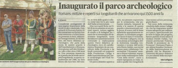 22 settembre 2013 - Messaggero Veneto