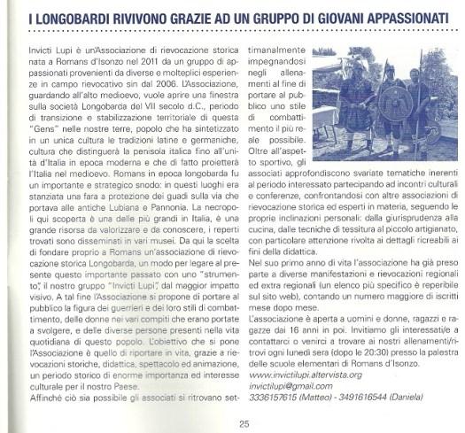 Gennaio 2013 - Bollettino d'Informazione del Comune di Romans d'Isonzo