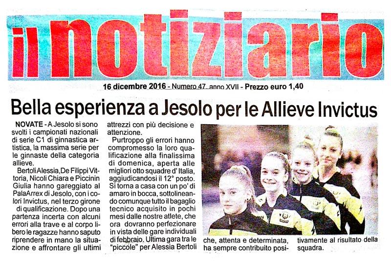 16.12.2016 - Il Notiziario