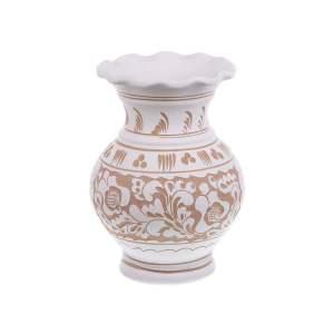 Vaza de ceramica alba de Corund 18 cm Model 2
