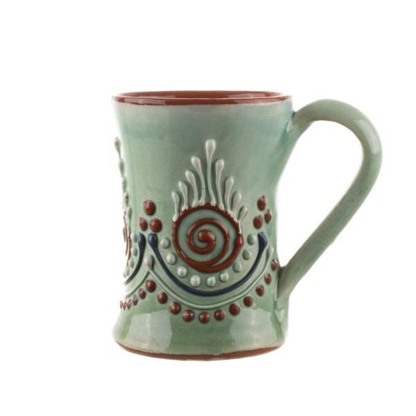 Halba mica din ceramica Bledea Baia Mare verde Ardeal