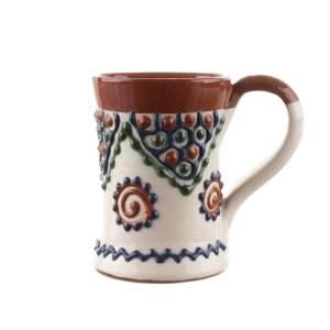 Halba mica din ceramica Bledea Baia Mare alb fildeș