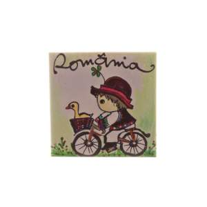 Magnet România pictat litografie pe ceramică DD