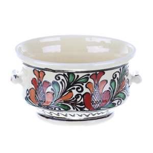 Bol cu manere ceramica traditionala Corund 15 cm