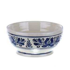 Bol ceramica traditionala albastra de Corund 15 cm
