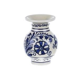 Vaza ceramica albastra de Corund 12 cm
