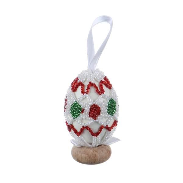 Ou de Paste din lemn decorat paiete specific Translivania