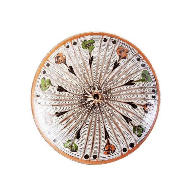 farfurie_ceramica_horezu_alba_model_floral_4_6