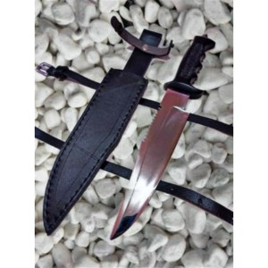 BAYONET ARMY KNIFE WITH LEATHER BELT COVER