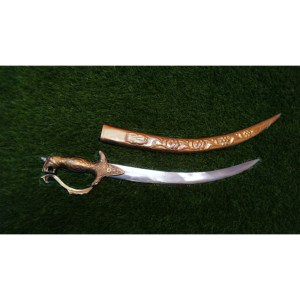 LOIN HEAD SMALL BRASS SWORD (Full size 24 inch)