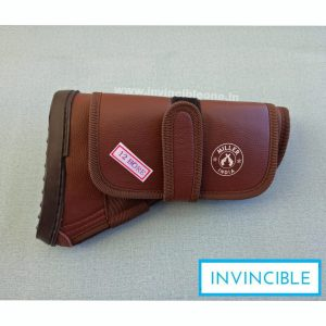 Gun Butt Cover, 23 cm x 15 cm x 6  Carry Case/Cover Free Size (DARK brown leather)