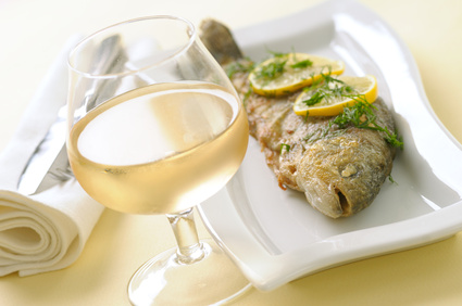 Roasted trout with lemon and dill