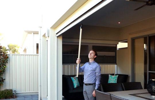 Ziptrak Blinds Adelaide | Outdoor Blind Pull Stick