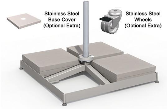 Shadowspec Rotating Cantilever Umbrella Portable base
