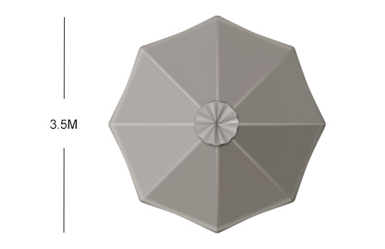 Shadowspec Cantilever Umbrellas Size