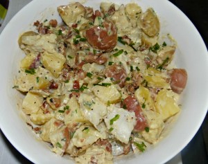 Warm Potato Salad with bacon