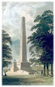 1830s engraving - note the budget ran out for the proposed statue